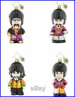 Christopher Radko The BEATLES Set of 4 Rock and Roll Band Christmas Ornaments