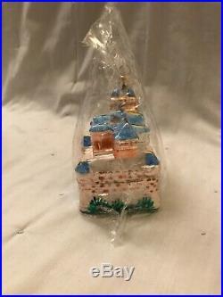 Christopher Radko. The Blue Disneyland Castle! Christmas Ornament Brand New