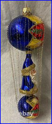 Christopher Radko The First Decade Wire-Wrapped Santa Star Fire New