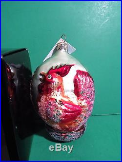 Christopher Radko Three French Hens 12 Days of Christmas Ornament Limited Ed