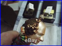 Christopher Radko Three Stooges Curly Larry Moe Ornaments