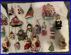 Christopher Radko, Train, Snowman, Disney, Sleigh, Ornaments Lot of 47