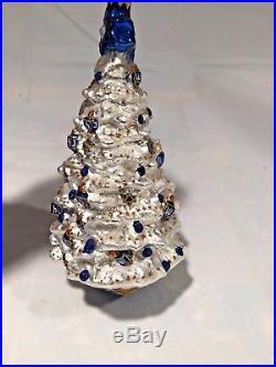 Christopher Radko Tree of David Hanukkah Bush Ornament withBox RARE & RETIRED