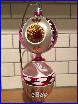 Christopher Radko Triple Reflector Drop Ball Ornament FANTASIA 93-143-0 New