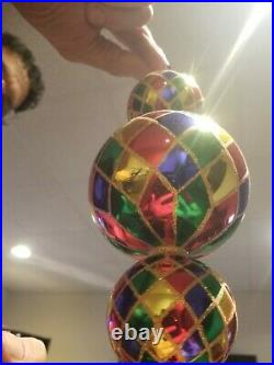 Christopher Radko Triple Tier 15th Anniversary Harlequin Ornament