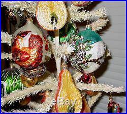 Christopher Radko Twelve Days of Christmas, CR Tree & 18 CR Pear Ornaments -ISW