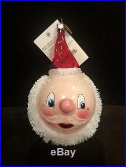 Christopher Radko Very Rare Santa Blush Ornament New In Box With Tag Amazing