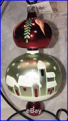 Christopher Radko Vintage 1992 Alpine Village Glass Ornament Cat # 92-105-0
