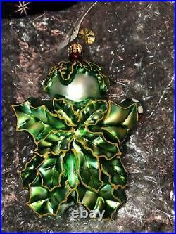 Christopher Radko Vintage Holly Jean Blown Glass Christmas Ornament 2003