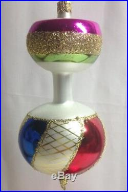 Christopher Radko Vintage Spinner Glass Ornament