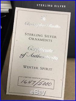 Christopher Radko WINTER SPIRIT Sterling Silver Santa Ornament limited edition