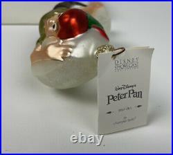 Christopher Radko Walt Disney Peter Pan Ornament Showcase 98-DIS-18 RARE Tag Box