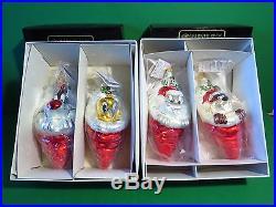 Christopher Radko Warner Bros Bugs Taz Slyvester Tweety Stocking Ornaments LE