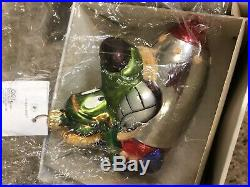 Christopher Radko Warner Bros. Looney Tunes Martian K-9 Glass Christmas Ornament
