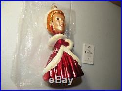 Christopher Radko White Christmas Movie Ornament Vera Ellen as Judy Haynes Rare