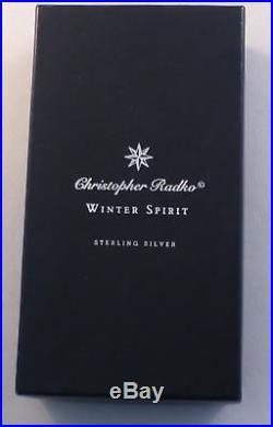 Christopher Radko Winter Spirit Sterling Pin / Pendant Ornament-Complete