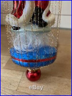 Christopher Radko Wire Ornament Santa Supreme 1010258 11 Large With Tag