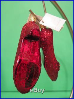 Christopher Radko Wizard of Oz Christmas Ornament Ruby Slippers
