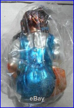 Christopher Radko Wizard of Oz Dorothy & Toto LE 1469/10000 Glass Ornament NIB