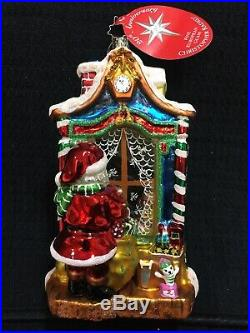 Christopher Radko Workshop Wonder 2004 Rare Christmas Ornament Santa Window