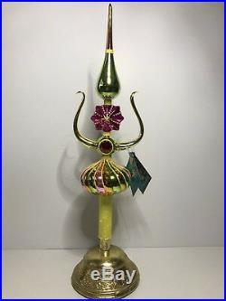 Christopher Radko X-Mas Ornament Lyre Spire Finial 2005 Master Craftsman 14/300