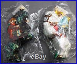 Christopher Radko Yippy Yi Yo 1997 Ornaments 97-SP-25 Limited Edition Set NIB