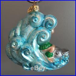 Christopher Radko'dash Away Dolphin' Ornament / 2001 / Euc / Retired / Vhtf