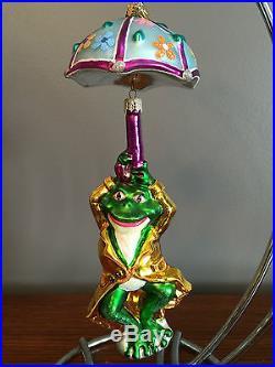 Christopher Radko'fairweather Frog' Ornament / 2002 / Euc / Retired / Rare&vhtf