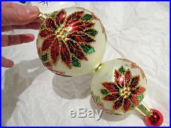 Christopher Radko ornament. Double Winter Star Blossom 99-3410