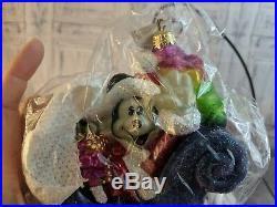 Christopher Radko ornament holiday xmas disney mickey sleigh ride 1997 gardens