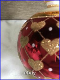 Christopher radko 2002 rare unique lovehop heart ornament