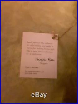 Christopher radko ornament Unknown Name Lady Blue Dress 75a