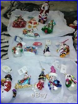 Christopher radko ornaments 14 lot