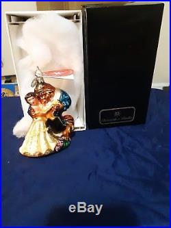 Christopher radko ornaments Beauty and The Beast 20th Anniversary A Disney