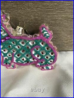 Christopher radko scottie nibbler lace cookie ornament very rare