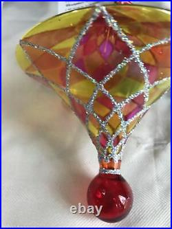 Christopher radko tiffany brite harlequin ornament 20th aniversary Stained Glass