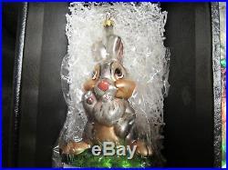 Disney Christopher Radko Bambi 4 Piece Glass Ornament Set with COA MIB Q638