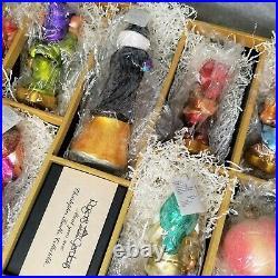 Disney Radko Snow White Seven Dwarfs SEALED Set Roger's Garden Ornaments RARE