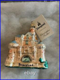 Disney The Blue Castle Disneyland castle Christopher Radko glass ornament