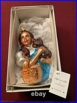 Dorothy & Toto Christopher Radko Blown Glass Holiday Ornament Wizard of Oz