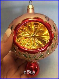 Early Christopher Radko EPIPHANY Drop Triple Reflector Lilac Purple Ornament 94