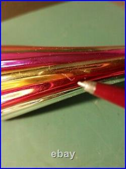 Early Rare Vtg Christopher Radko 1990 Umbrella Ornament Rainbow Parasol Tag Box