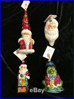 Gorgeous Lot 25 Christopher Radko Christmas Ornaments All With Tags & Many With Box