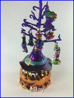 Holiday Celebrations By Christopher Radko Halloween Tree With 6 Ornaments