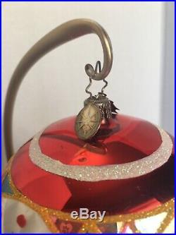 Italian Radko 20th Anniv CLOWN REFLECTOR Spiral Ornament 1011666 RARE & AMAZING
