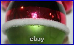 Italy Italian IT'S IN THE BAG/ Santa Glass Christmas Ornament Christopher Radko