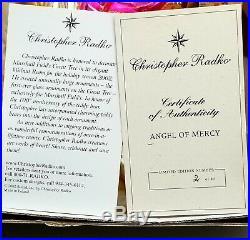 LE #2/80 CHRISTOPHER RADKO Marshall Fields ANGEL OF MERCY Christmas Ornament VTG