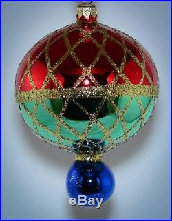 LOT OF 12 Christopher Radko Ornament Large 5.5 CHRISTMAS HARLEQUIN 94-216