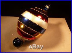 Large 7 Christopher Radko Teardrop Swirl Balloon Drop Ornament Limited Edition