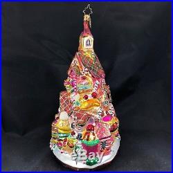 Large 8 Rare Christopher Radko Gingerbread Lane House Town Christmas Ornament